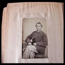 Antique Family Photograph Album with Civil War Photos