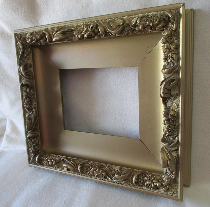 Deep Antique Painting, Picture or Mirror Frame with Floral Motif ...
