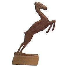 Antique Bronze Gazelle, Deer Doorstop