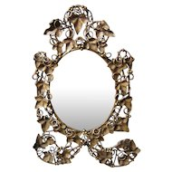 Lovely Antique c1870s Victorian Grape, Leaf and Tendril Mirror Picture Frame