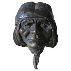 Vintage Native American Bronze Sculpture, Signed L. Lubeski
