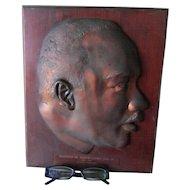 Vintage  c1968 Plaque of Reverend Dr. Martin Luther King