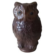 Figural Great Horned Owl Glass Lamp Shade by Tiffin