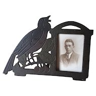 Antique Arts & Crafts, Mission Picture Frame with Bird Motif