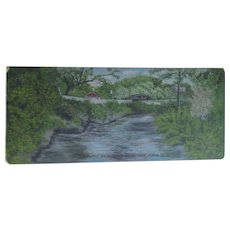 c1920s Folk Art Oil Painting of Natural Bridge, Miami Florida