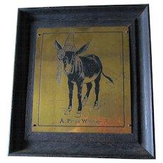 Antique c1903 Arts & Crafts Motto Plaque by Nash, Prize Winner