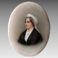 Antique KPM, Dresden Hand Painted Porcelain Plaque Of a Lady with Ringlets