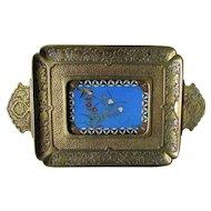 Antique c1880 Aesthetic Bronze & Cloisonne Desk, Vanity Tray