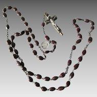 Old Catholic Reliquary, Relic Crucifix with Spina Christi Beads