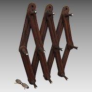 Primitive Antique Coat Rack, Architectural Wall Hooks
