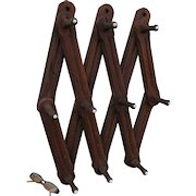 Primitive Antique Coat Rack, Architectural Wall Hooks