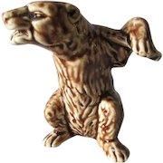 c1900 Austrian Figural Bear with Shotgun Still Bank, Majolica
