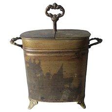 Antique Tole Egg Coddler, Primitive Tin Kitchen Accessory