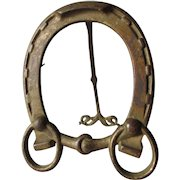 Antique Horse Shoe Picture Frame or Mirror Frame, Cast Iron