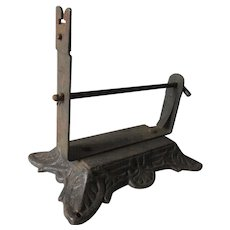 Antique Cast Iron Counter Top String Holder, Cutter, Country Store, Hardware