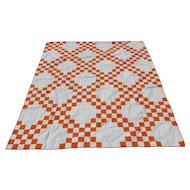 Nice c1930s Art Deco Hand Sewn Quilt, Quilted and Cotton Filled