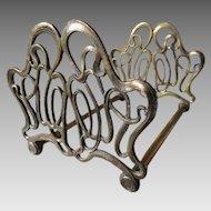 Pretty Art Nouveau Bookends with Elegant Sinuous Design