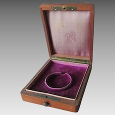 19thC Mahogany Pocket Watch Presentation Box,  Pocketwatch Display Box