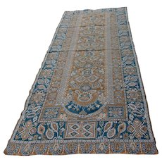 Antique 19thC Tapestry Tablecloth, Portiere, Rug with Persian, Paisley Motif