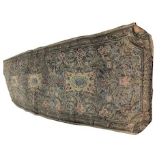 Fine Antique French Metallic Tapestry Runner, Tablecloth