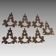 7 Pieces Antique Victorian Cast Iron Architectural Elements, Widows Walk, Garden