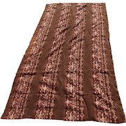 Antique Edwardian Chenille Tablecloth, Drapery Panel