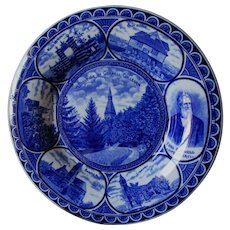 Cornell College University, Souvenir Flow Blue Plate, Rowland & Marsellus
