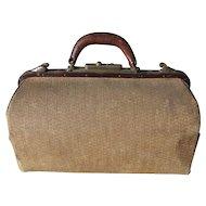 Rare Antique Wicker Medical Doctors Bag, Wicker Suitcase