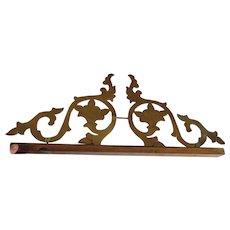 Antique 19thC Hand Made Brass Architectural Element, Primitive Hanger
