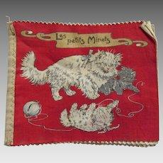 Charming c1917 French Children's Dean Rag Book, Cats, Kittens