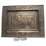 Antique 19thC European Plaque, Mythological Scene, Pre Raphaelite