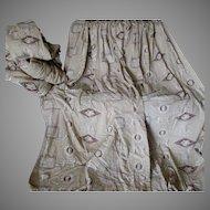 4 Antique Toile de Jouy Curtain Drapes, Cherubs, Mythology, Boar Chariots, etc.