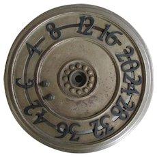 Antique Architectural  Cast Iron Elevator Floor Indicator