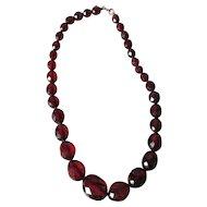 Pretty Cherry Bakelite Necklace, Restrung & Ready to Wear