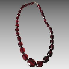 Pretty Cherry Bakelite Necklace, Restrung & Ready to Wear