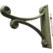 Large Antique Cast Iron Scroll Hook, Industrial Bracket