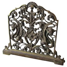 Antique Expanding Bookends with Gothic, Gargoyles, Griffins