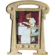 Antique Art Nouveau, Arts & Crafts Picture Frame, Original Paint