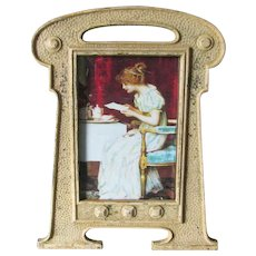 Antique Art Nouveau, Arts & Crafts Picture Frame, Original Paint