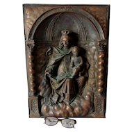 Antique Religious Grotto, Madonna & Child, Architectural, Christianity