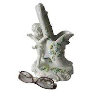 Antique Cherub Angel with Slipper, Sitzendorf Porcelain Figurine