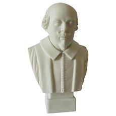 Parian Porcelain Bust English Writer William Shakespeare Robinson & Leadbeater