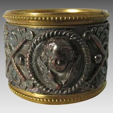 Pretty Antique Victorian Napkin Ring with Cherub Angel