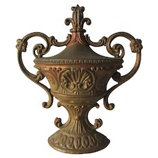 Antique Cast Iron Urn Architectural Finial, Cast Iron Stove Finial