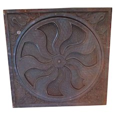 Antique 19thC Architectural Cast Iron Vent or Grate Cover