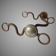 Antique Horse Bit with Silver Mounts, Southwestern, Horse Tack