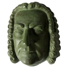 Arts & Crafts, Art Pottery, Johann Sebastian Bach Mask, Music Composer