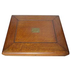 Lovely Antique Quarter Sawn Oak Silverware Presentation Box