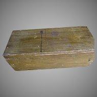 Antique Grain Painted Primitive, Folk Art Box, Tool Chest