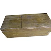 Antique Grain Painted Primitive, Folk Art Box, Tool Chest